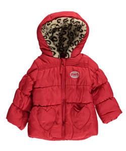 "Steve Madden Baby Girls' ""Heart Pockets"" Insulated Jacket - CookiesKids.com"