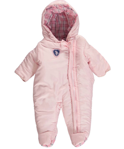 "U.S. Polo Assn. Baby Girls' ""Ice Cream Plaid"" 1-Piece Snowsuit - CookiesKids.com"