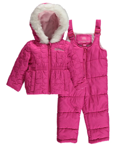 "Weatherproof Baby Girls' ""Stitched Stars"" 2-Piece Snowsuit - CookiesKids.com"