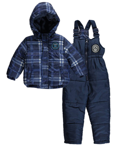 "Weatherproof Baby Boys' ""Snowfall Plaid"" 2-Piece Snowsuit - CookiesKids.com"