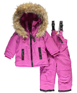"Canada Weather Gear Baby Girls' ""Luxe Trim"" 2-Piece Snowsuit - CookiesKids.com"