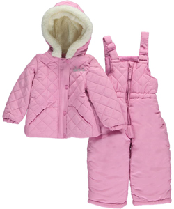 "Weatherproof Baby Girls' ""Diamond Slope"" 2-Piece Snowsuit - CookiesKids.com"