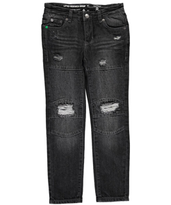 "LRG Big Boys' ""Stitched Panel"" Slim Straight Jeans (Sizes 8 – 20 - CookiesKids.com"