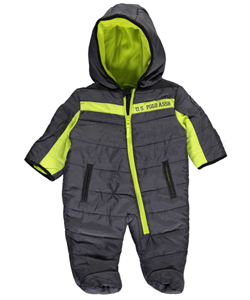 "U.S. Polo Assn. Baby Boys' ""Octavian"" 1-Piece Snowsuit - CookiesKids.com"