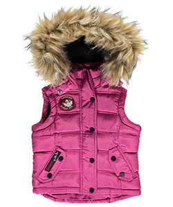 "Canada Weather Gear Little Girls' Toddler ""Juno"" Insulated Hooded Vest (Sizes 2T – 4T) - CookiesKids.com"