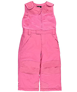 "Vertical '9 Little Girls' Toddler ""Snowcone"" Insulated Bib Snowpants (Sizes 2T – 4T) - CookiesKids.com"