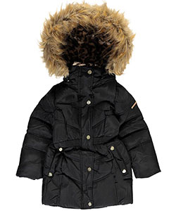 "Steve Madden Little Girls'  Toddler ""Summit"" Insulated Parka (Sizes 2T – 4T) - CookiesKids.com"