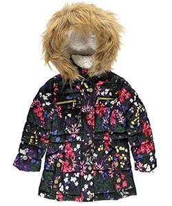 "Steve Madden Little Girls' Toddler ""Quilted Bouquet"" Insulated Jacket (Sizes 2T – 4T) - CookiesKids.com"