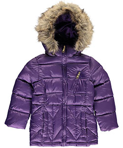 "Steve Madden Little Girls' Toddler ""Structural Baffle"" Insulated Jacket (Sizes 2T – 4T) - CookiesKids.com"