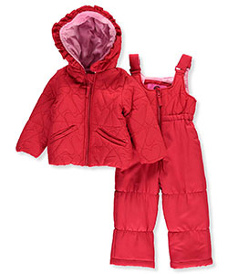 "Weatherproof Baby Girls' ""Stitched Hearts"" 2-Piece Snowsuit - CookiesKids.com"