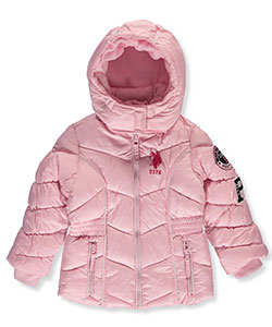 U.S. Polo Assn. Little Girls' Insulated Winter Jacket (Sizes 4 – 6X) - CookiesKids.com