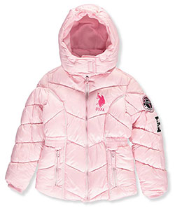 U.S. Polo Assn. Big Girls' Insulated Winter Jacket (Sizes 7 – 16) - CookiesKids.com