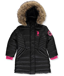U.S. Polo Assn. Little Girls' Insulated Winter Parka (Sizes 4 – 6X) - CookiesKids.com