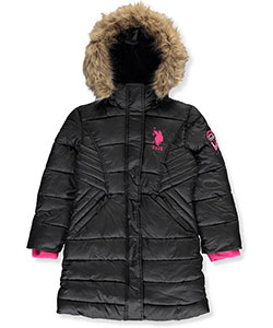 U.S. Polo Assn. Big Girls' Insulated Winter Parka (Sizes 7 – 16) - CookiesKids.com