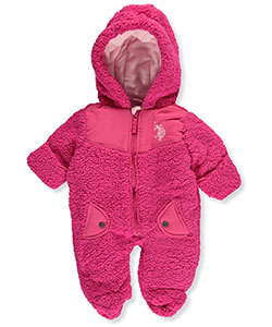 U.S. Polo Assn. Baby Girls' Sherpa Pram Suit - CookiesKids.com
