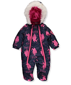 U.S. Polo Assn. Baby Girls' 1-Piece Snowsuit - CookiesKids.com