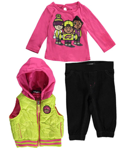 "Trukfit Baby Girls' ""Board Up"" 3-Piece Outfit - CookiesKids.com"