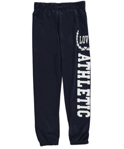 "Joyce Concept Big Girls' ""Love Athletic"" Joggers (Sizes 7 – 16) - CookiesKids.com"