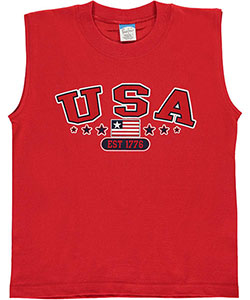 "Pacific Big Boys' ""American Stars"" Sleeveless T-Shirt (Sizes 8 – 20) - CookiesKids.com"