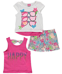 "Diva Little Girls' ""Happy Frames"" 3-Piece Set (Sizes 4 – 6X) - CookiesKids.com"