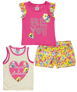 "Diva Little Girls' ""Love & Dream"" 3-Piece Set (Sizes 4 – 6X) - CookiesKids.com"