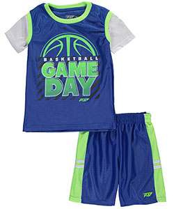 "Pro Athlete Little Boys' ""Game Day"" 2-Piece Outfit (Sizes 4 – 7) - CookiesKids.com"