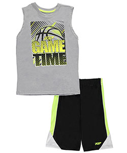 "Pro Athlete Big Boys' ""Basketball Game Time"" 2-Piece Outfit (Sizes 8 – 20) - CookiesKids.com"