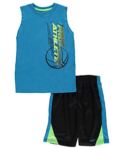 "Pro Athlete Big Boys' ""Basketball Pass"" 2-Piece Outfit (Sizes 8 – 20) - CookiesKids.com"