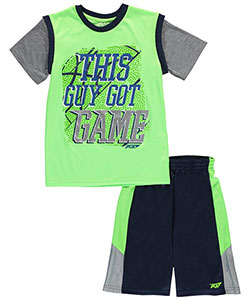 "Pro Athlete Big Boys' ""This Guy Got Game"" 2-Piece Outfit (Sizes 8 – 20) - CookiesKids.com"