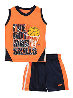 "Pro Athlete Little Boys' Toddler ""I've Got Mad Skills"" 2-Piece Outfit (Sizes 2T – 4T) - CookiesKids.com"