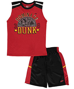"Pro Athlete Little Boys' ""Dominate Dunk"" 2-Piece Outfit (Sizes 4 – 7) - CookiesKids.com"
