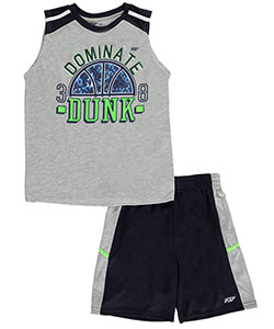 "Pro Athlete Big Boys' ""Dominate Dunk"" 2-Piece Outfit (Sizes 8 – 20) - CookiesKids.com"