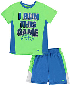 "Pro Athlete Big Boys' ""I Run this Game"" 2-Piece Outfit (Sizes 8 – 20) - CookiesKids.com"