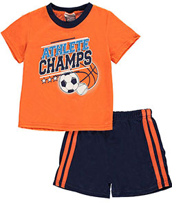 "Tuff Guys Little Boys' Toddler ""Champ Athlete"" 2-Piece Pajamas (Sizes 2T – 4T) - CookiesKids.com"