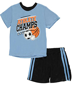 "Tuff Guys Baby Boys' ""Champ Athlete"" 2-Piece Pajamas - CookiesKids.com"