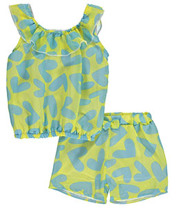 "Angel Face Baby Girls' ""Sheer Hearts"" 2-Piece Outfit - CookiesKids.com"