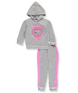 Angel Face Little Girls' 2-Piece Fleece Sweatsuit (Sizes 4– 6X) - CookiesKids.com