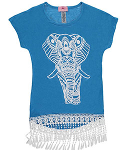 "Dream Girl Big Girls' ""Shining Elephant"" Top (Sizes 7 – 16) - CookiesKids.com"