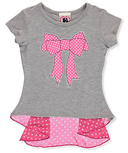 "Dream Girl Little Girls' Toddler ""Breezy Bow"" Top (Sizes 2T – 4T) - CookiesKids.com"