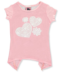 "Dream Girl Little Girls' Toddler ""Floating Hearts"" Top (Sizes 2T – 4T) - CookiesKids.com"