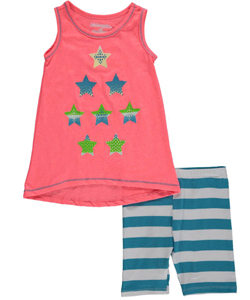 "Kidtopia Little Girls' Toddler ""Star Contrast"" 2-Piece Outfit (2T – 4T) - CookiesKids.com"
