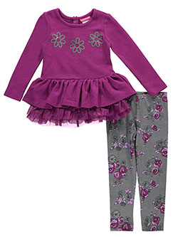 "Kidtopia Little Girls' ""Crimped Daisies"" 2-Piece Outfit (Sizes 4 – 6X) - CookiesKids.com"