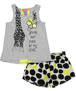"Kidtopia Little Girls' Toddler ""Not My Level"" 2-Piece Outfit (Sizes 2T – 4T) - CookiesKids.com"