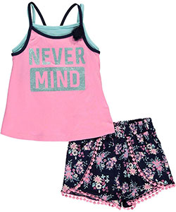 "Kidtopia Little Girls' Toddler ""Never Mind"" 2-Piece Outfit (Sizes 2T – 4T) - CookiesKids.com"