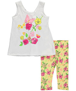 "Kidtopia Little Girls' Toddler ""Butterfly Flight"" 2-Piece Outfit (Sizes 2T – 4T) - CookiesKids.com"