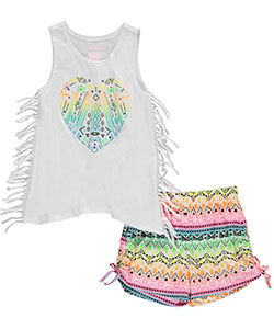 "Kidtopia Little Girls' ""Tribal Fringe"" 2-Piece Outfit (Sizes 4 – 6X) - CookiesKids.com"