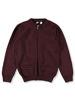 T.Q. Knits Big Girls' Control-Pil Zip-up Cardigan (Sizes 7 - 16) - CookiesKids.com