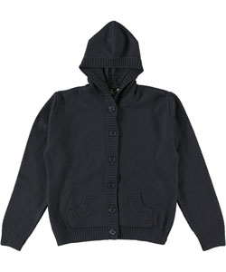 T.Q. Knits Big Girls' Control-Pil Hooded Cardigan (Sizes 7 - 16) - CookiesKids.com
