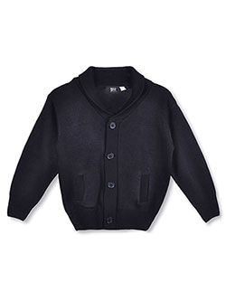 T.Q. Knits Little Boys' Roll Collar Control-Pil Cardigan (Sizes 4 - 7) - CookiesKids.com
