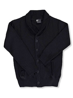 T.Q. Knits Big Boys' Roll Collar Control-Pil Cardigan (Sizes 8 - 20) - CookiesKids.com
